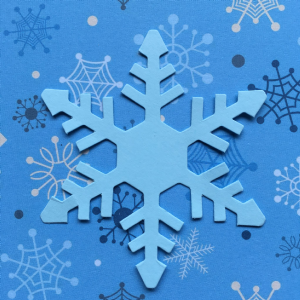 Stix-2 Die Cut Shapes Blue Snowflake 2